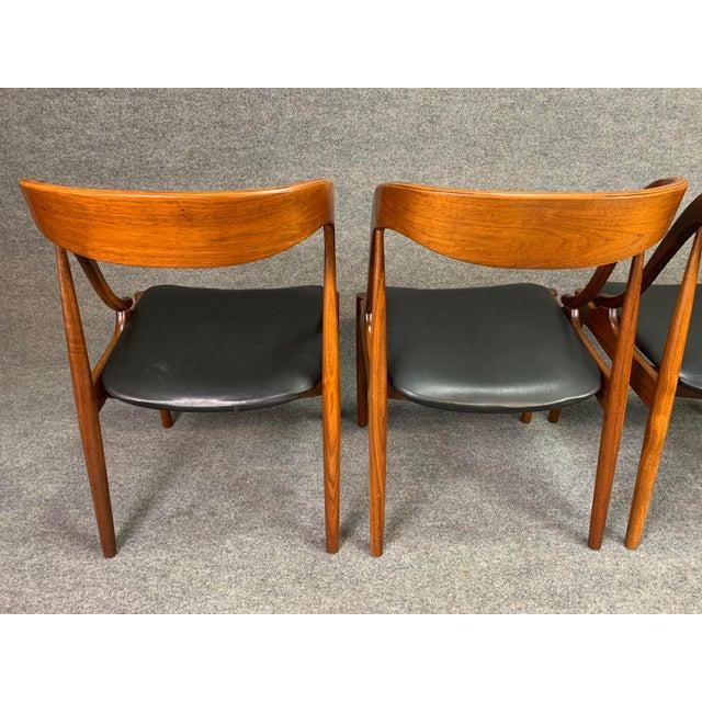 Plastic 1960s Vintage Johannes Andersen Danish Modern Walnut Dining Chairs- Set of 4 For Sale - Image 7 of 10
