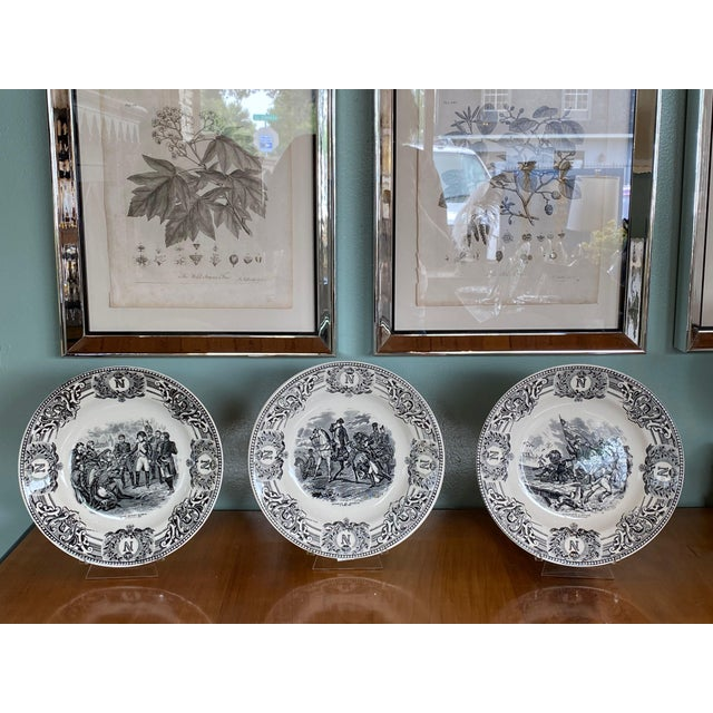 19th Century 19th Century Boch Freres Napoleonic Plate For Sale - Image 5 of 6
