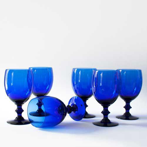 Cobalt Wine Glasses - Set of 6 - Image 3 of 3