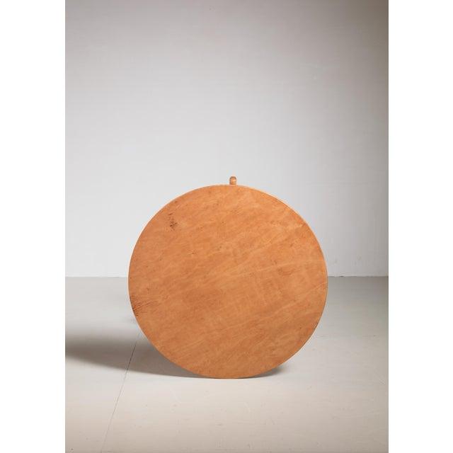 Mid-Century Modern Axel Larsson Round Gueridon Table, Svenska Möbelfabriken, Bodafors, 1930s For Sale - Image 3 of 4