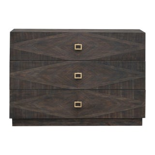 Wood Inlay Detailed Chest With Three Drawers For Sale