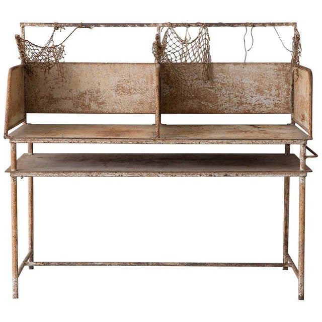 Early 20th Century American Iron Oyster Table For Sale - Image 9 of 9