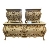 Image of Vintage Carved Bedroom Dressers - Set of 3 For Sale