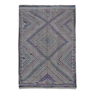 Vintage Spanish Tribal Rug-6′8″ × 9′10″ For Sale