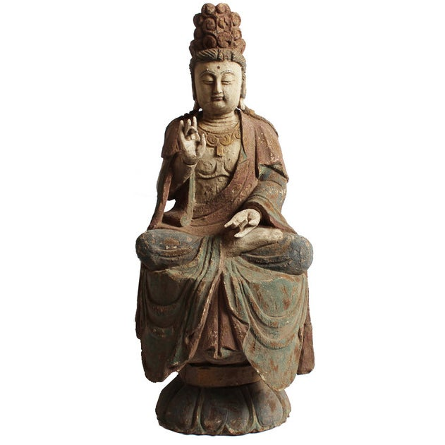 Sitting Quan Yin - Image 1 of 5