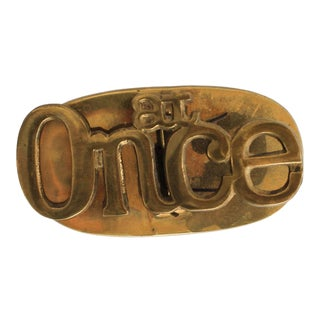 At Once Brass Desk Paper Clip For Sale