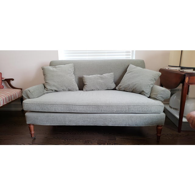 Traditional Traditional Style Lee Industries Loveseat For Sale - Image 3 of 9