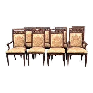 Henredon Grand Continent Waknut Dining Chairs - Set of 8