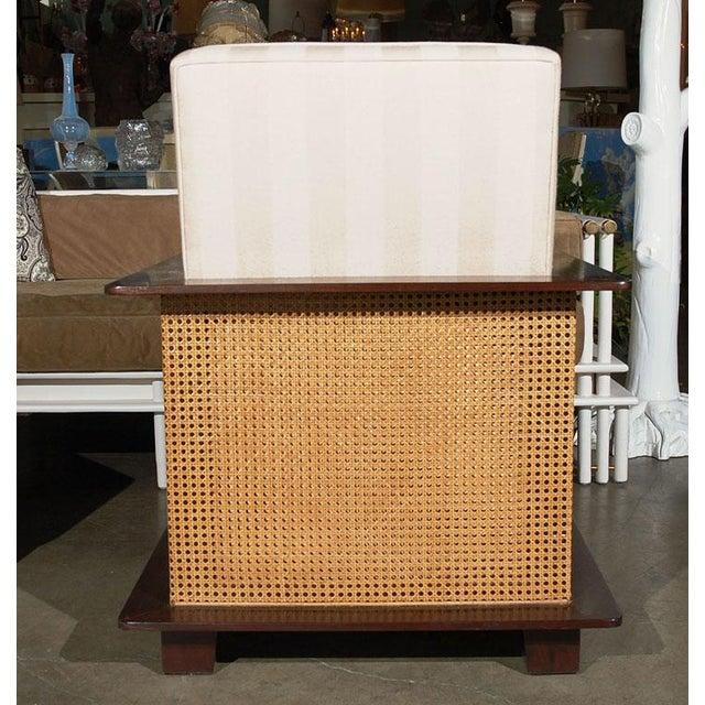 Paul Marra Paul Marra Max Walnut & Cane Club Chair For Sale - Image 4 of 8