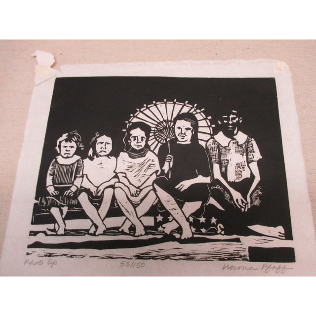Late 20th Century Vintage Black and White Lithograph Titled: Photo Op For Sale - Image 5 of 5