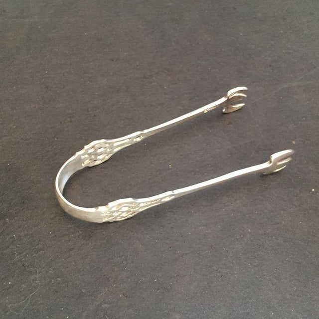 Mid-Century Pierced Sterling Silver Sugar Tong - Image 2 of 5