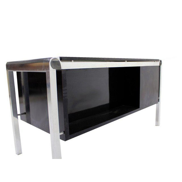 Mid Century Modern Heavy Granite Top Desk For Sale - Image 4 of 8