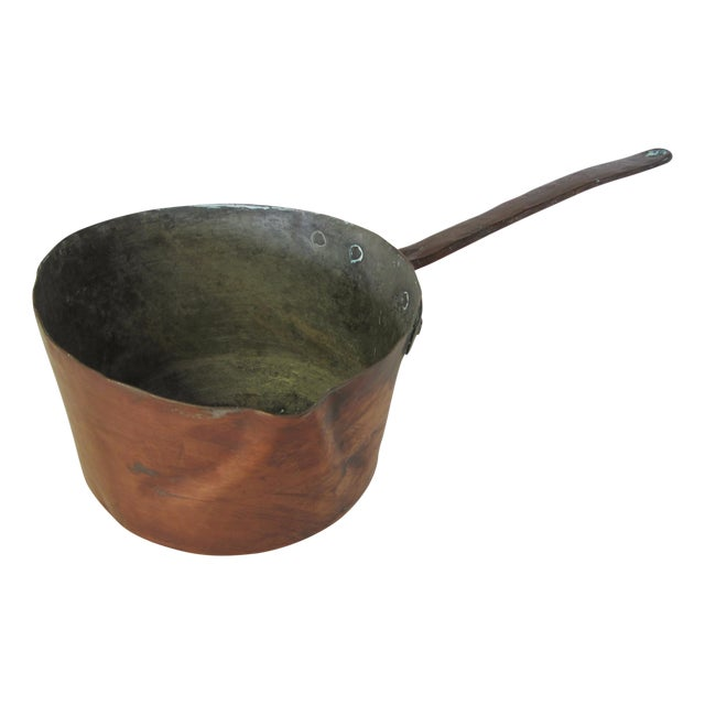 Antique French Copper Sauce Pan - Image 1 of 7