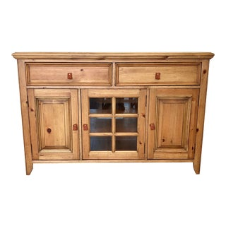 Rustic Wooden Tv Media Console Cabinet For Sale