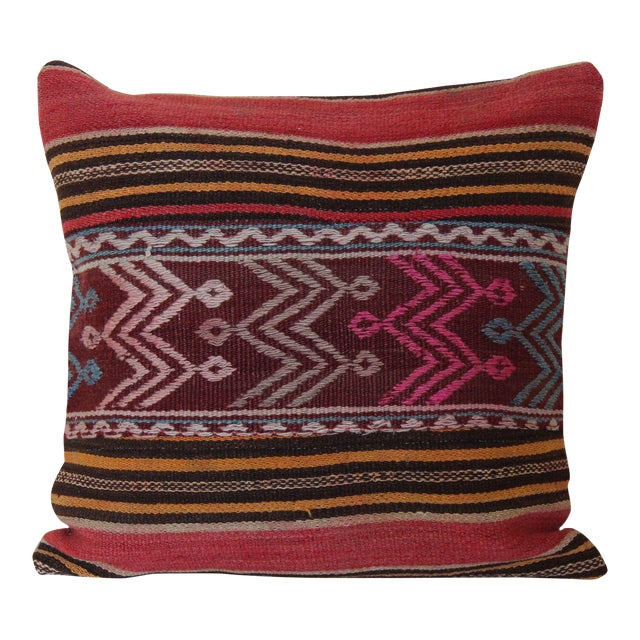 Turkish Wool Kilim Pillowcase For Sale