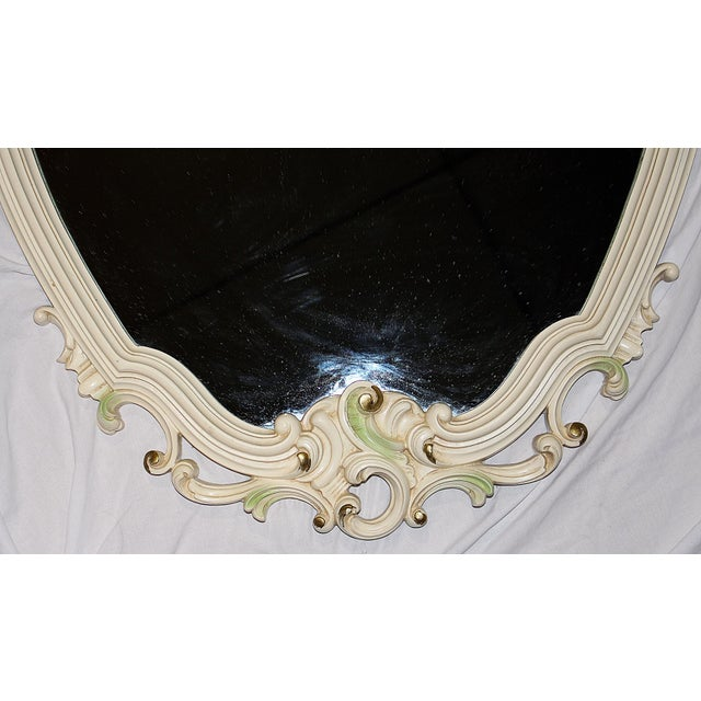 Painted Rococo Mirror For Sale - Image 5 of 6