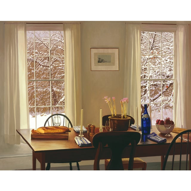 """William B. Hoyt """"Winter Dinner"""" Giclee Print For Sale - Image 4 of 5"""
