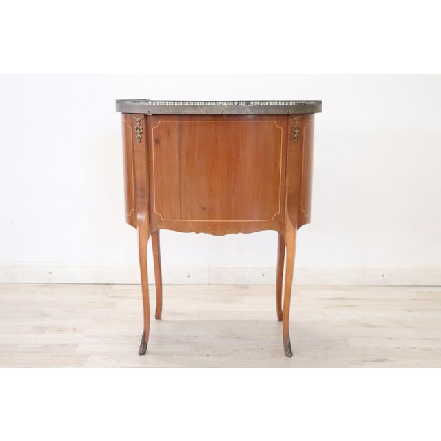 1950s 20th Century French Louis XV Style Wood Golden Bronzes Nightstand For Sale - Image 5 of 7