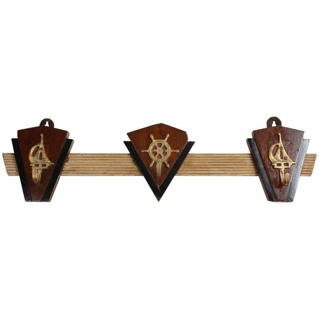 Nautical Coat Hooks From 1970s Cruise Ship For Sale In Nantucket - Image 6 of 6