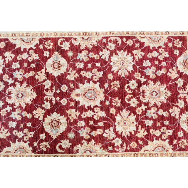 """Sultan Abad Afghani Hand Knotted Rug - 4' x 5'9"""" - Image 3 of 3"""