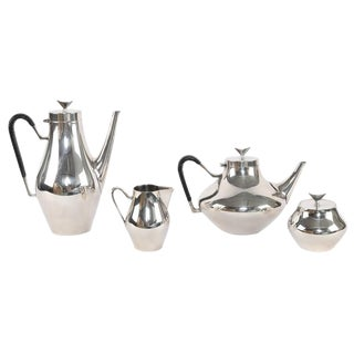 "1950'S VINTAGE JOHN PRIP FOR REED & BARTON ""DENMARK"" SILVER COFFEE AND TEA SERVICE- SET OF 4 For Sale"