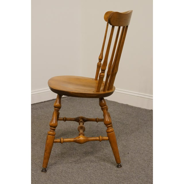 Late 20th Century Late 20th Century Vintage Nichols & Stone Solid Maple Spindle Back Dining Side Chair For Sale - Image 5 of 10