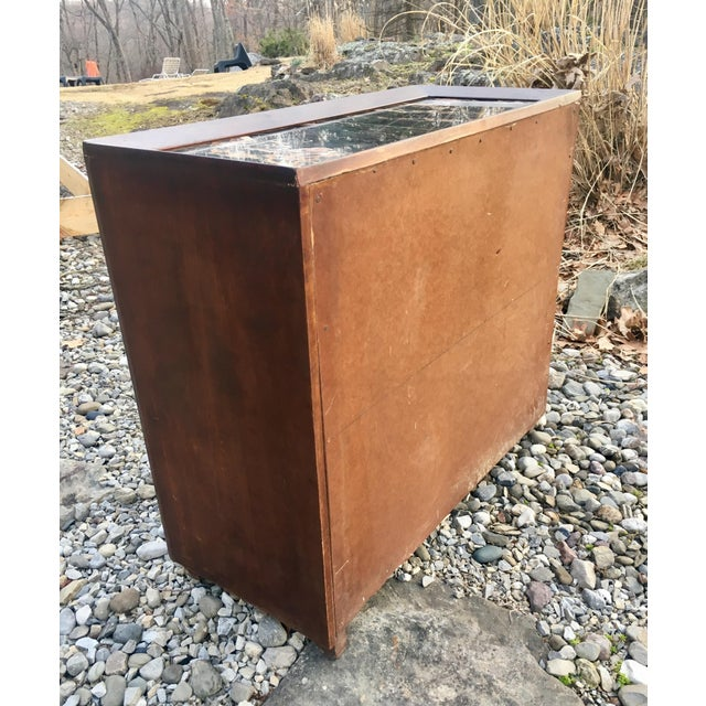 50's Marble Top Bar Cabinet - Image 11 of 11