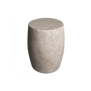 Cast Resin 'Barrel' Side Table, Natural Stone Finish by Zachary A. Design Preview