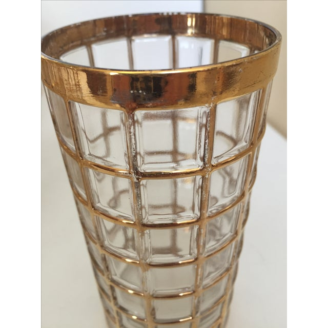 Imperial Glass Toril De Oro Gold 15 Highball Drinks Glasses For Sale - Image 11 of 11