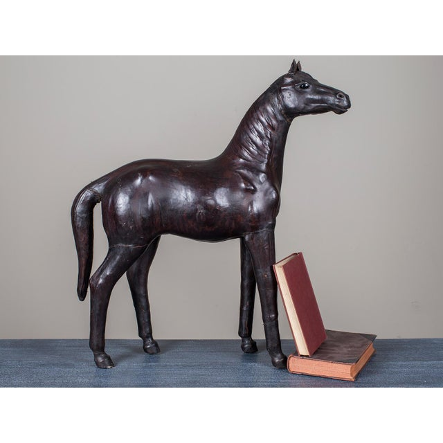 Vintage English Liberty Leather Horse circa 1920 - Image 9 of 11
