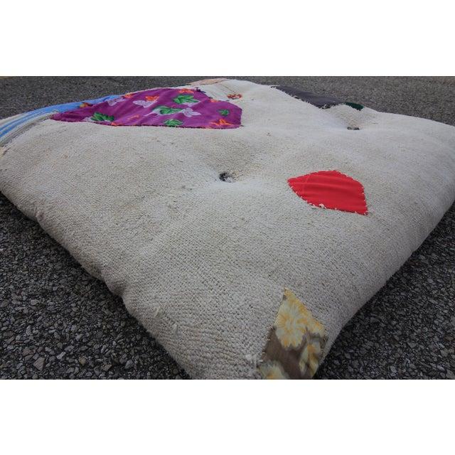 Vintage Turkish Hemp Floor Pillow - Image 4 of 5