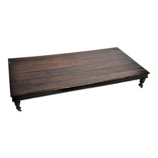British Colonial Teak Wood Daybed For Sale