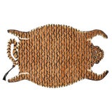 Image of Tangerine Decorate Wild Animal Design Handcuffed Area Rug - 4′ × 6′ For Sale
