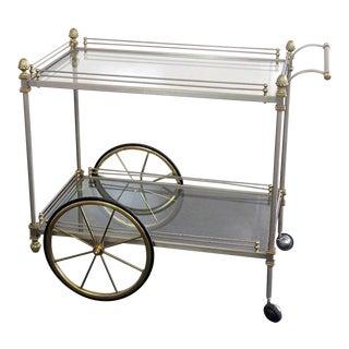 Mid Century Vintage Regency Style Bar Cart For Sale