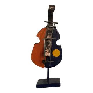 1990s Marc Berlet Signed Violin Sculpture For Sale