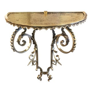 Hand Hammered and Forged Bronze Louis XV Period Console