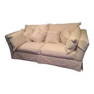 Henredon Cream Upholstered Sofa