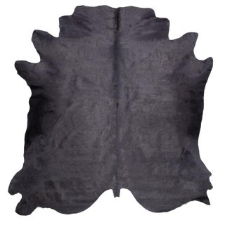 Gray Cow Hide Rug - 7′ × 8′ For Sale
