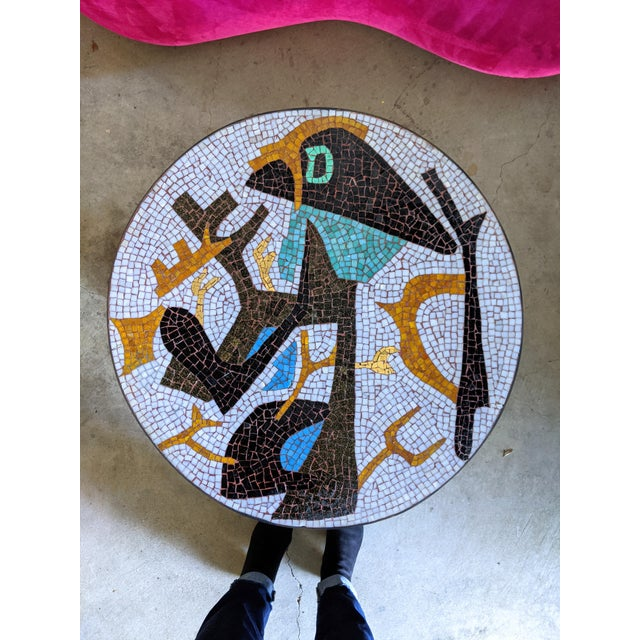 Metal Artisan Midcentury Modern Mosaic Table For Sale - Image 7 of 13
