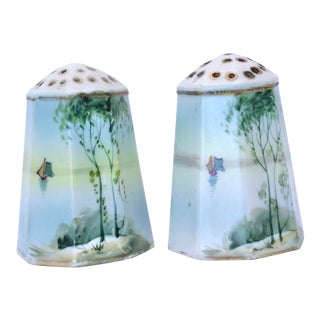 Vintage Hand Painted Nippon Salt & Pepper Shakers - a Pair For Sale