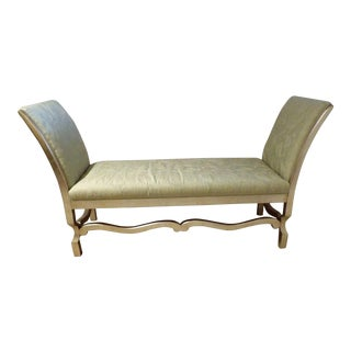 Swaim Pale Green & Platinum Contemporary Bench For Sale