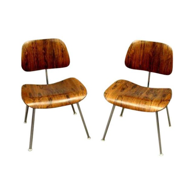 Wood Eames DCM's Rosewood For Sale - Image 7 of 7
