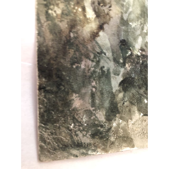 1891 Impressionist English Landscape Watercolor Painting, Framed For Sale - Image 9 of 10