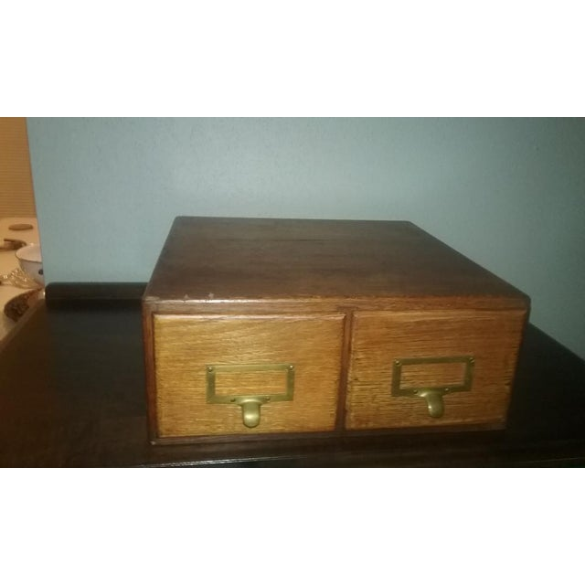 Traditional Early Twentieth Century Wooden Library Card Catalog For Sale - Image 3 of 13