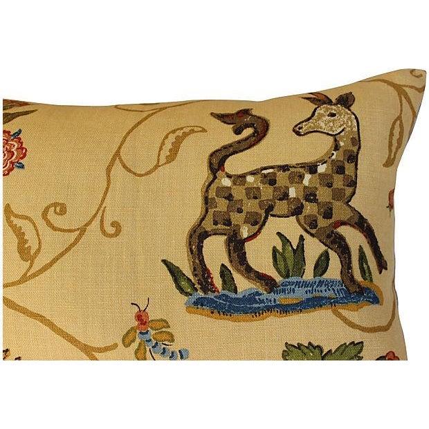 Schumacher La Menagerie Woven Pillows - Pair - Image 3 of 6