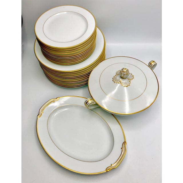 Hollywood Regency Mid-Century 1940s Noritake Goldcroft China - Set of 25 For Sale - Image 3 of 11
