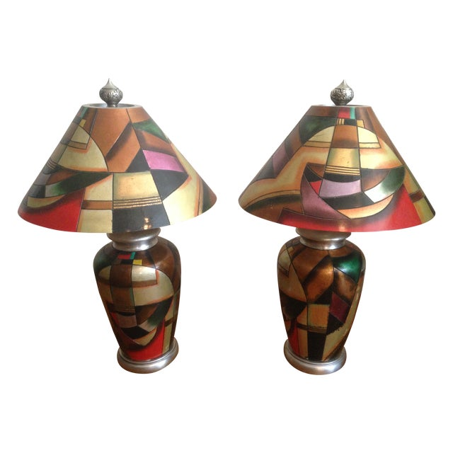 C. 1960 Kalifano Art Pottery Lamps - A Pair - Image 1 of 7