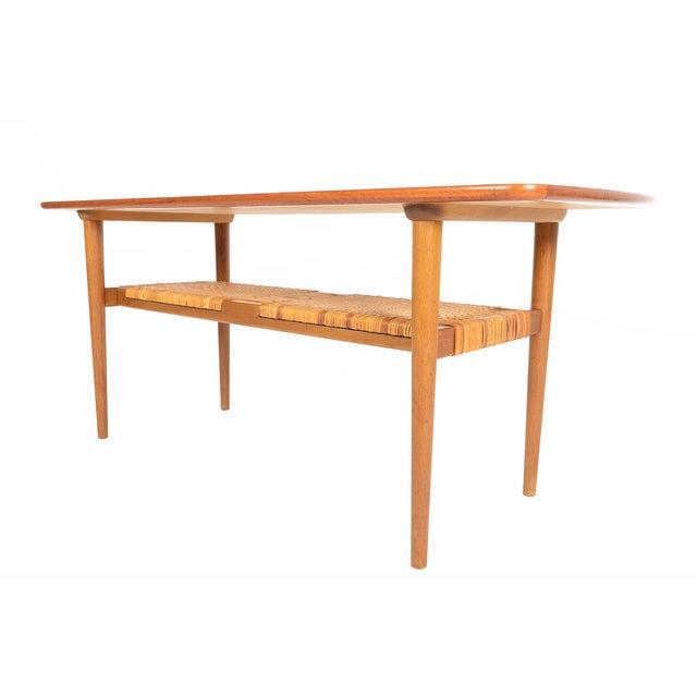 Danish Modern Teak Surfboard Coffee Table - Image 4 of 8
