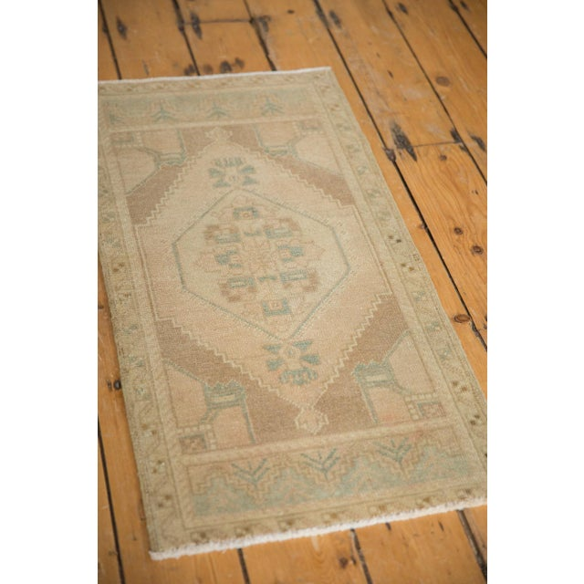 "Old New House Vintage Distressed Oushak Rug Mat - 1'7"" X 3' For Sale - Image 4 of 6"