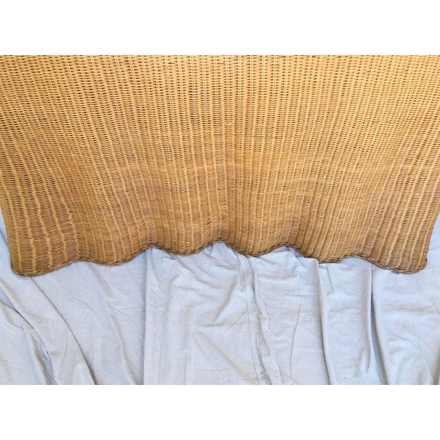 "Trompe l'Oeil ""Drape"" Wicker Ghost Console Table For Sale - Image 10 of 11"